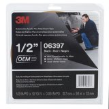 3M™ Acrylic Plus High-Bond Tape 06397, Black .5 in x 10 yd, 12 rolls percase