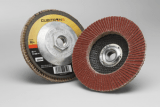 3M 967A Cubitron II Flap Disc, T27 4-1/2 in x 5/8-11 80+ Y-weight, 10 per case