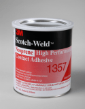 3M 1357 Neoprene High Performance Contact Adhesive Gray-Green, 1 Quart, 12 per case