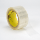 3M 375 Scotch Box Sealing Tape Clear, 48 mm x 50 m, 36 per case Bulk
