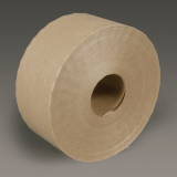 3M 6144 Water Activated Paper Tape Natural Economy Reinforced, 70 mm x 450 ft, 10 rolls per case Bulk