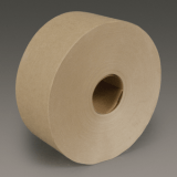 3M 6142 Water Activated Paper Tape Natural Medium Duty, 3 in x 600 ft, 10 rolls per case Bulk