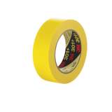 3M 301+ Performance Yellow Masking Tape+, 12 mm x 55 m 6.3 mil, 72 per case Bulk