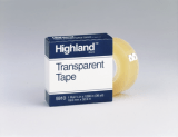 3M 5910 Highland Transparent Tape, 3/4 in x 1296 in Boxed