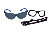 3M S1102SGAF-KT Solus, 1000-Series, Foam, Strap, Black/Blue, Grey Scotchgard Anti-fog lens, 20ea/cs