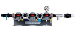 3M™ High Flow Series Dual Port Triple Manifold Assembly DP3XX, 6228403, 1 Per Case