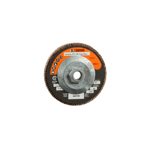 3M 645154 Standard Abrasives Ceramic Pro Type 27 High Density Flap Disc, 4 1/2 in x 5/8-11 60 Y-weight, 10 per case