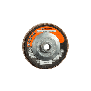 3M 645179 Standard Abrasives Ceramic Pro Type 29 High Density Flap Disc, 4 1/2 in x 5/8-11 80 Y-weight, 10 per case