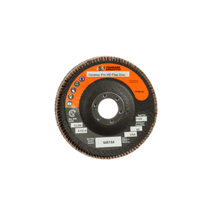 3M 645184 Standard Abrasives Ceramic Pro Type 29 High Density Flap Disc, 4 1/2 in x 7/8 60 Y-weight, 10 per case