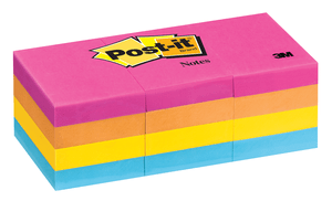 3M 653AN Post-it Notes, 1 3/8 in x 1 7/8 in (34,9 mm x 47,6 mm) Cape Town Collection