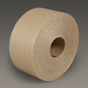 3M 6146 Water Activated Paper Tape Natural Medium Duty Reinforced, 72 mm x 450 ft, 10 rolls per case Bulk