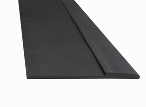 3M 59273 Matting Edging, Low Profile, Black, 5/8 in x 25 ft, Roll, 1/case