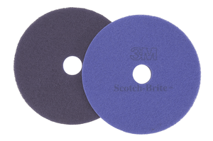 3M 57611 Scotch-Brite Purple Diamond Floor Pad Plus, 5 in, 10/case