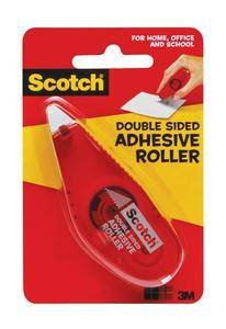 3M 6061 Scotch Double Sided Adhesive Roller, .27 in x 26 ft (7 mm x 8 m) Red