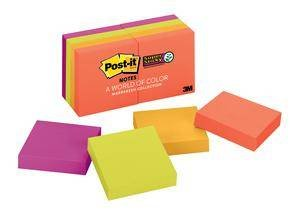 3M 622-8SSAN Post-it Super Sticky Notes, 1.8 in x 1.8 in (47,6 mm x 47,6 mm) Marrakesh Collection