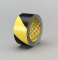 3M 5702 Safety Stripe Tape Black/Yellow, 1 in x 36 yd 5.4 mil, 36 per case Bulk