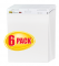 3M 559 Post-it Easel Pad VAD 6PK, 25 in x 30 in, White